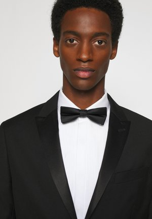 OXFORD SOLID BOW TIE - Fluga - black