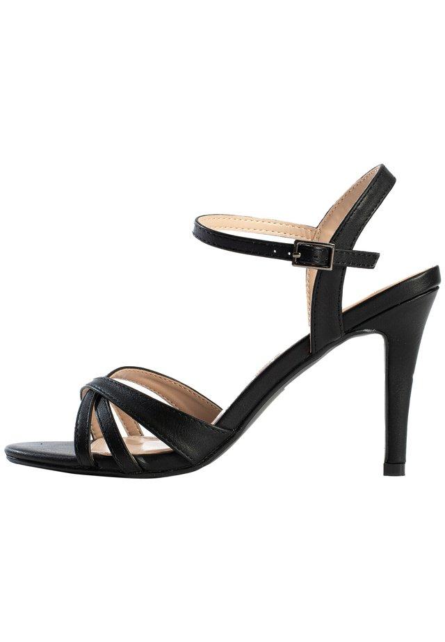CIARA - Sandalen met hoge hak - black melange