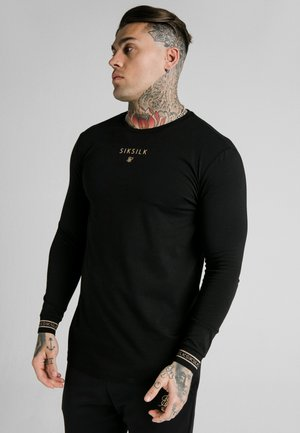 ELEMENT GYM TEE - Longsleeve - black/gold