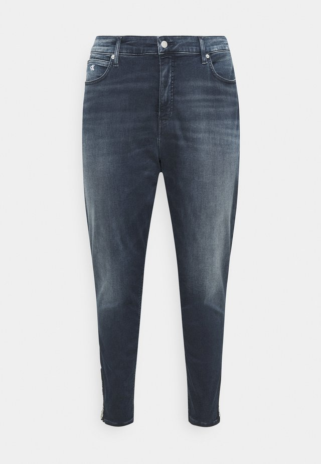 HIGH RISE SKINNY ANKLE - Jeans Tapered Fit - blue denim