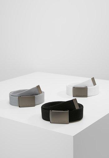 3 PACK - Belt - black/grey/white