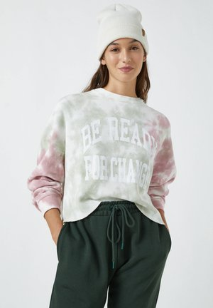MIT TIE-DYE - Long sleeved top - rose
