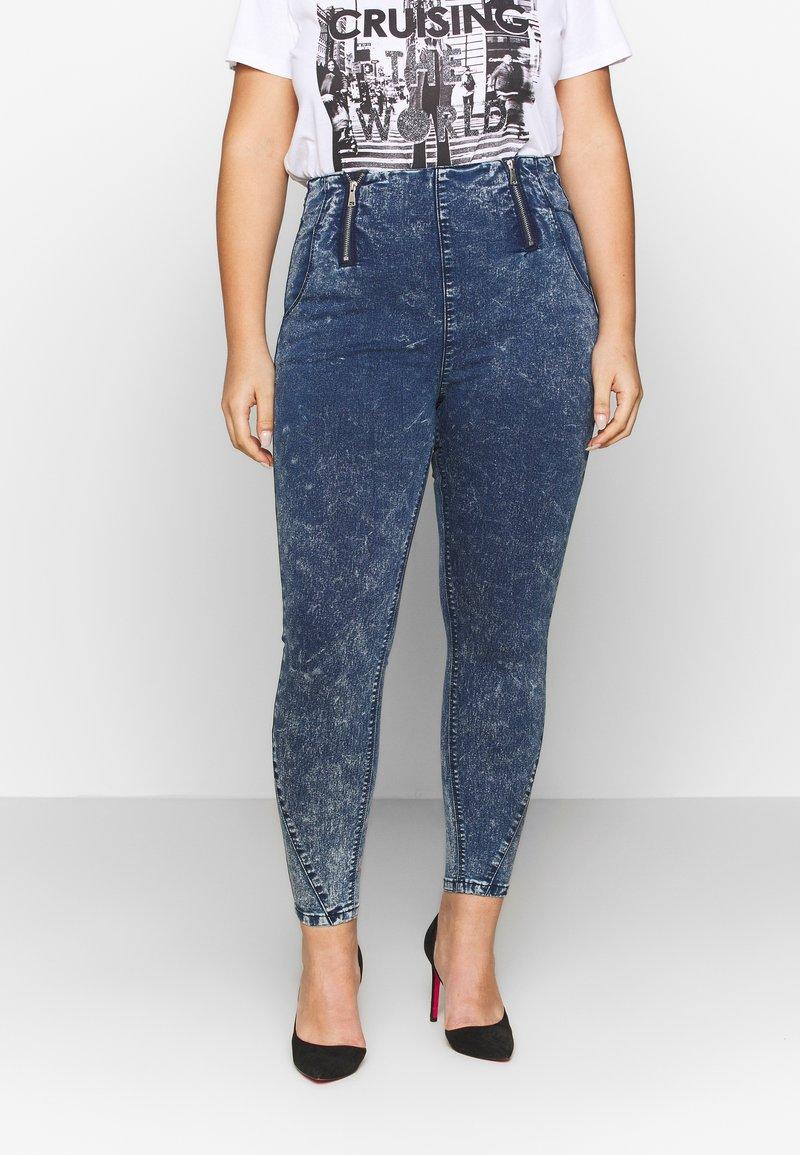 Simply Be - SHAPER JEGGING - Jeans Skinny Fit - blue acid