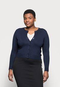Marks & Spencer London - CREW CARDI PLAIN - Strikjakke /Cardigans - dark blue - 0