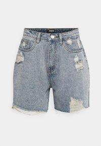 Missguided Tall - DISTRESS - Denim shorts - blue - 0