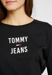 Tommy Jeans - SQUARE LOGO LONGSLEEVE - Long sleeved top - black - 5