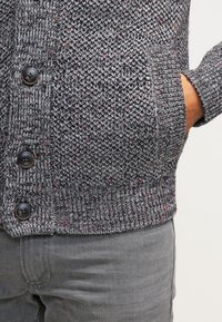 Pier One - Strikjakke /Cardigans - dark grey melange - 6