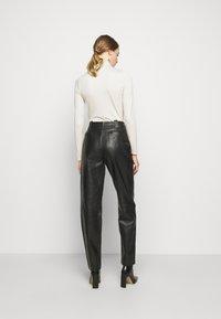 Alberta Ferretti - Leather trousers - black - 2