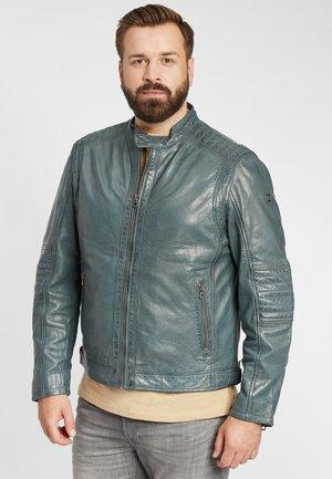 Leather jacket - denim blue