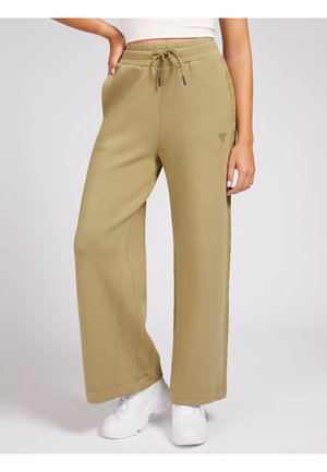 WIDE LEG PANTS - Tracksuit bottoms - beige