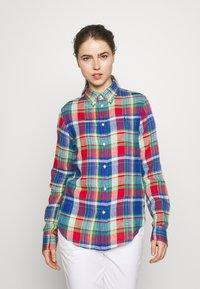 Polo Ralph Lauren - GEORGIA CLASSIC LONG SLEEVE - Bluser - blue/red - 0