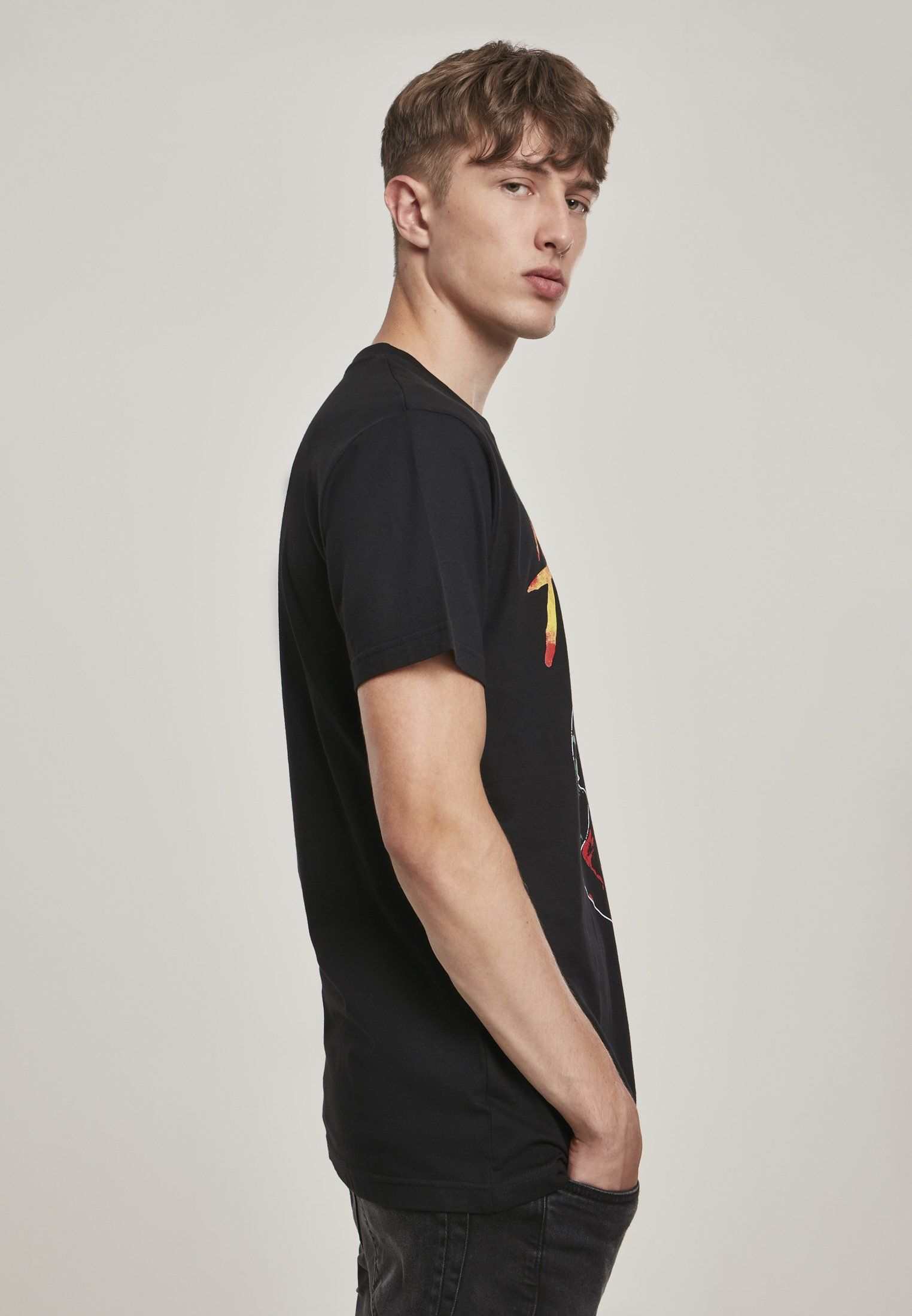 Mister Tee HERREN MICHAEL JACKSON THRILLER PORTRAIT TEE - Print T-shirt - black 8V6QS