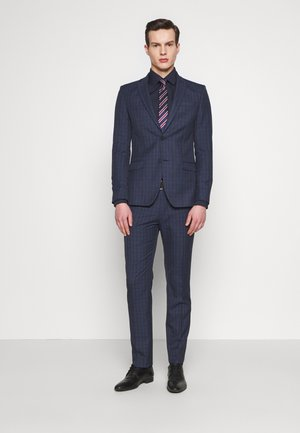 CHECK SUIT - Oblek - navy