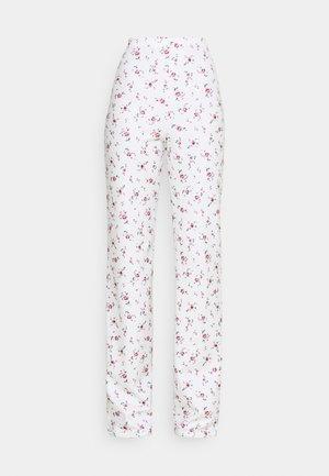 PRINT PANT - Trousers - white