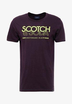 CREW NECK LOGO TEE - T-shirt z nadrukiem - le mauve