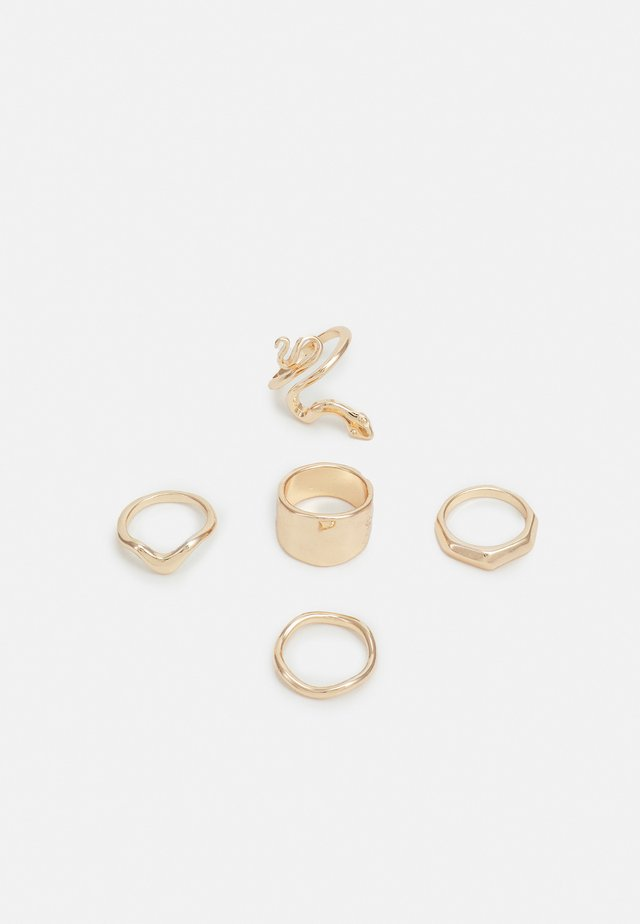 HAMMERED SNAKE 5 PACK - Ring - gold-coloured