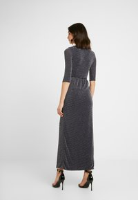 Club L London - WRAP SPARKLE TIE FRONT MAXI DRESS - Maxi dress - grey - 3