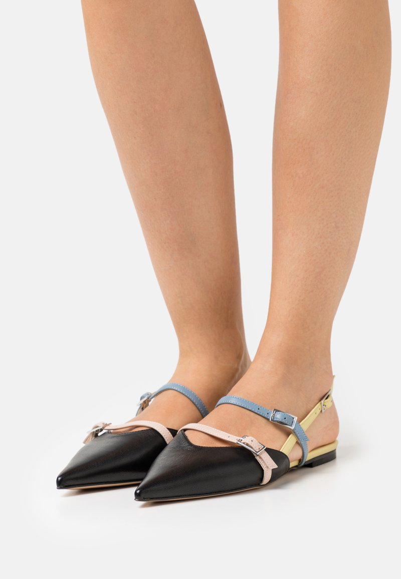Bianca Di - Slingback ballet pumps - black