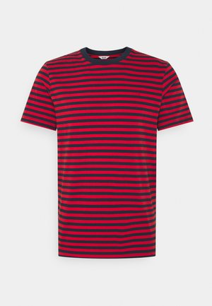 JJRDD STRIPE TEE CREW NECK - T-shirt print - pompeian red