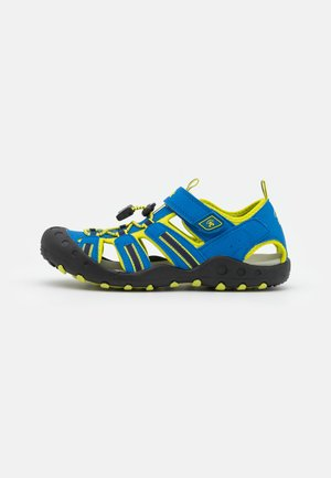 CRAB UNISEX - Sandalias de senderismo - blue/lemon