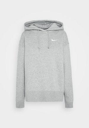 HOODIE TREND - Felpa con cappuccio - dark grey heather/matte silver/white