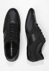 Emporio Armani - DERBY ACTION  - Zapatillas - black - 1