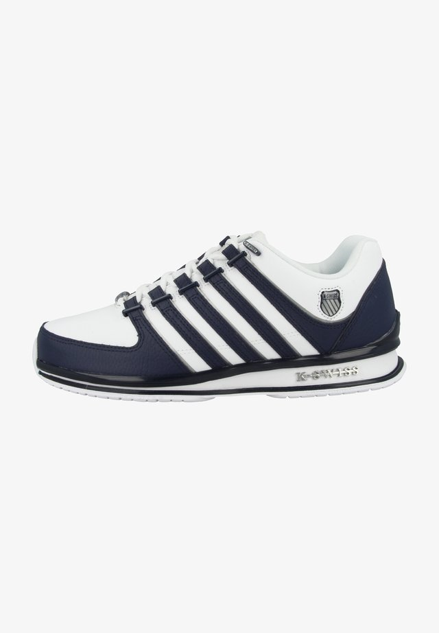 Sneakers - white-navy-silver