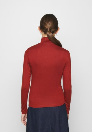 ONLLELA LIFE ROLLNECK - Long sleeved top - burnt henna