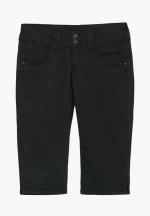 VENUS CROP - Short en jean - black