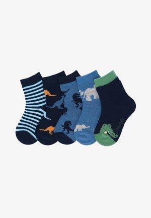 5ER-PACK WILDNIS - Socks - marine