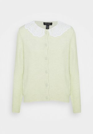 COLLAR CARDI - Gilet - light green