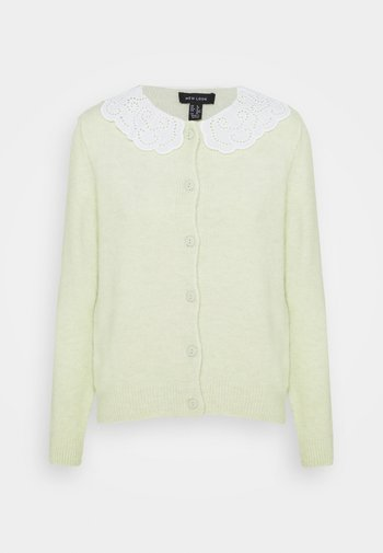 COLLAR CARDI - Cardigan - light green