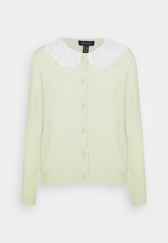COLLAR CARDI - Cardigan - light green