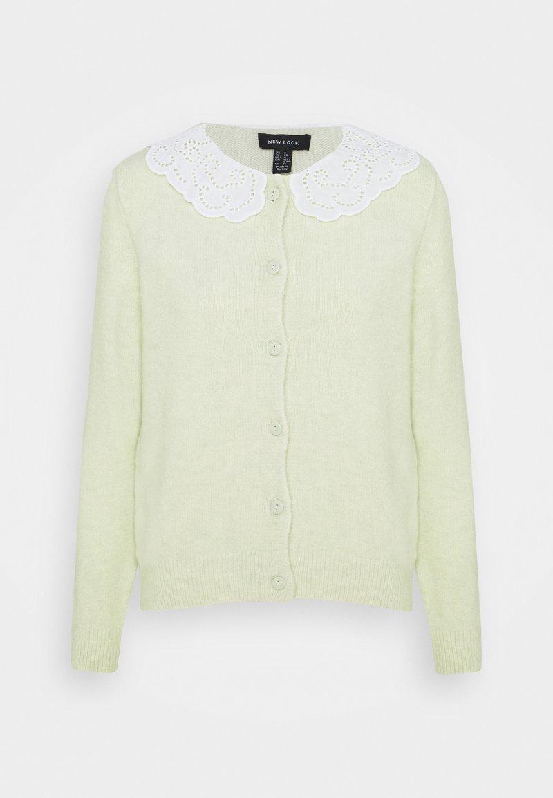 New Look - COLLAR CARDI - Cardigan - light green
