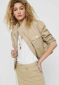 JDY - Summer jacket - beige, off-white, transparent - 3
