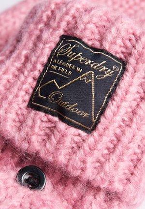 TWEED CABLE - Fingerless gloves - vintage smoke pink tweed