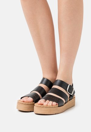 DIKY - Sandały na platformie - black