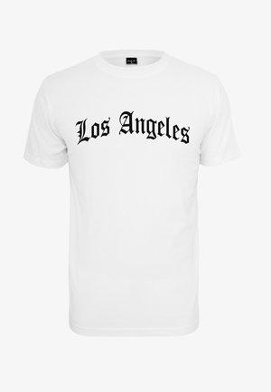 LOS ANGELES  - Print T-shirt - white