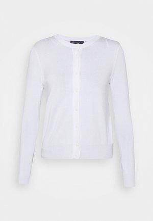 CREW CARDI PLAIN - Kardigan - white