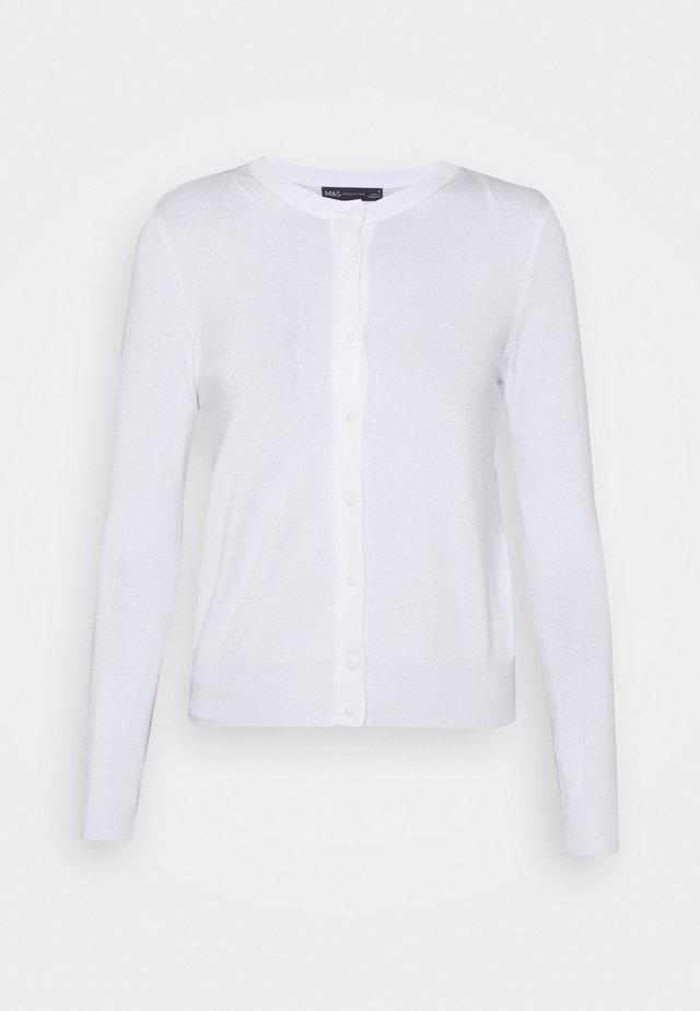 CREW CARDI PLAIN - Gilet - white