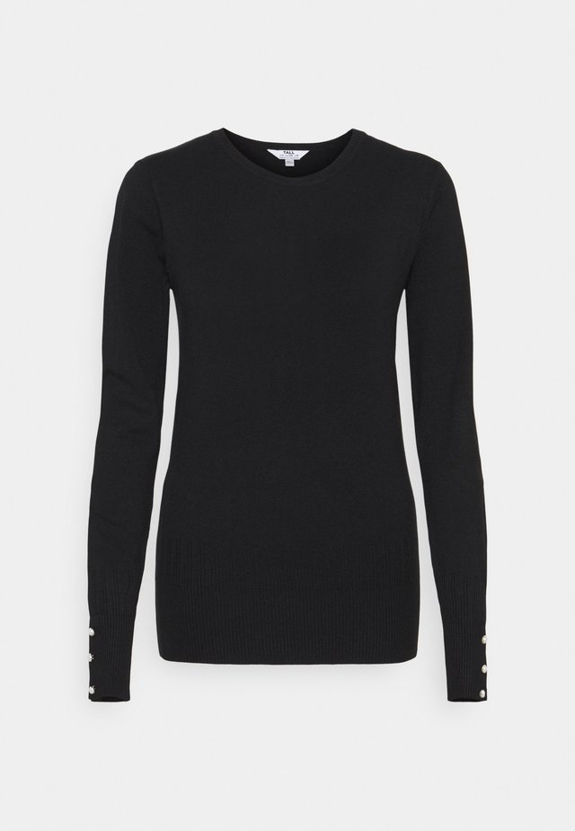 CUFF CREW NECK JUMPER - Jumper - black