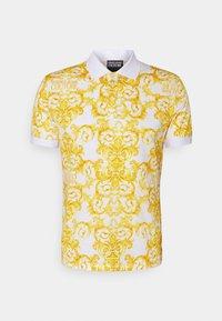 Versace Jeans Couture - PRINT LOGO BAROQUE  - Polo shirt - white - 5