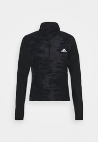 adidas Performance - ZIP - Sportshirt - black/white - 6