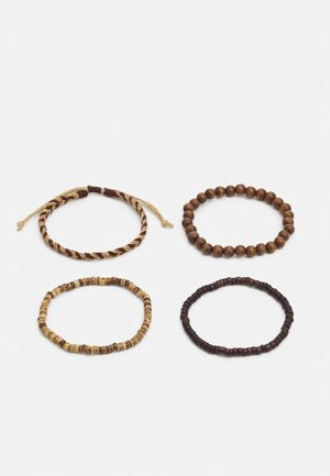 4 PACK - Bracelet - brown
