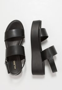 ALDO - AGRERINIA - Platform sandals - black - 3