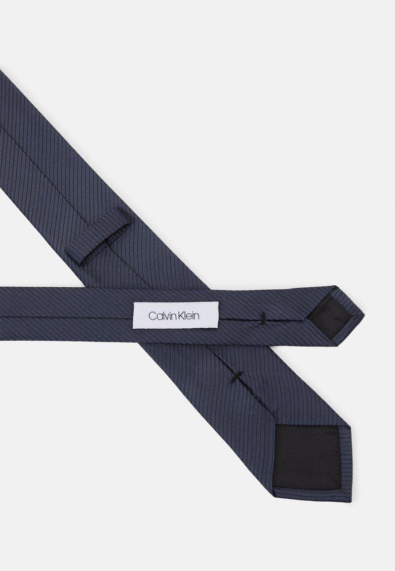 Calvin Klein - MICRO UNSOLID SOLID TIE - Tie - black