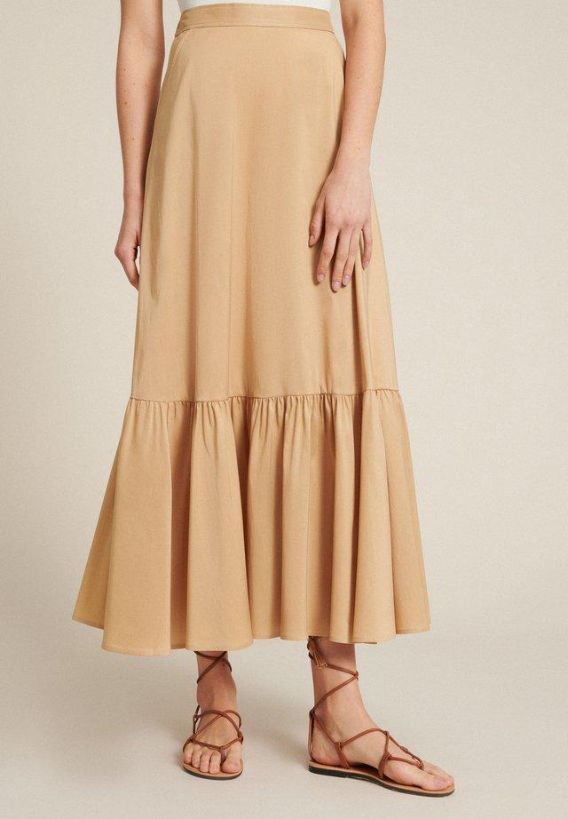 Falda larga - cammello