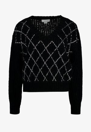 SEQUIN DETAIL JUMPER - Jersey de punto - black