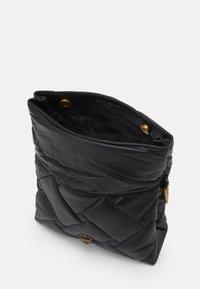 Kurt Geiger London - KENSINGTON SOFT FOLD BAG - Taška spříčným popruhem - black - 2