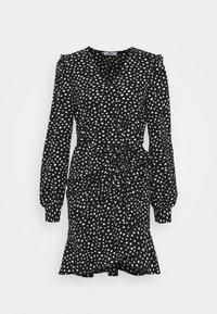 ONLY - ONLSANDY SHORT DRESS  - Day dress - black/white - 0